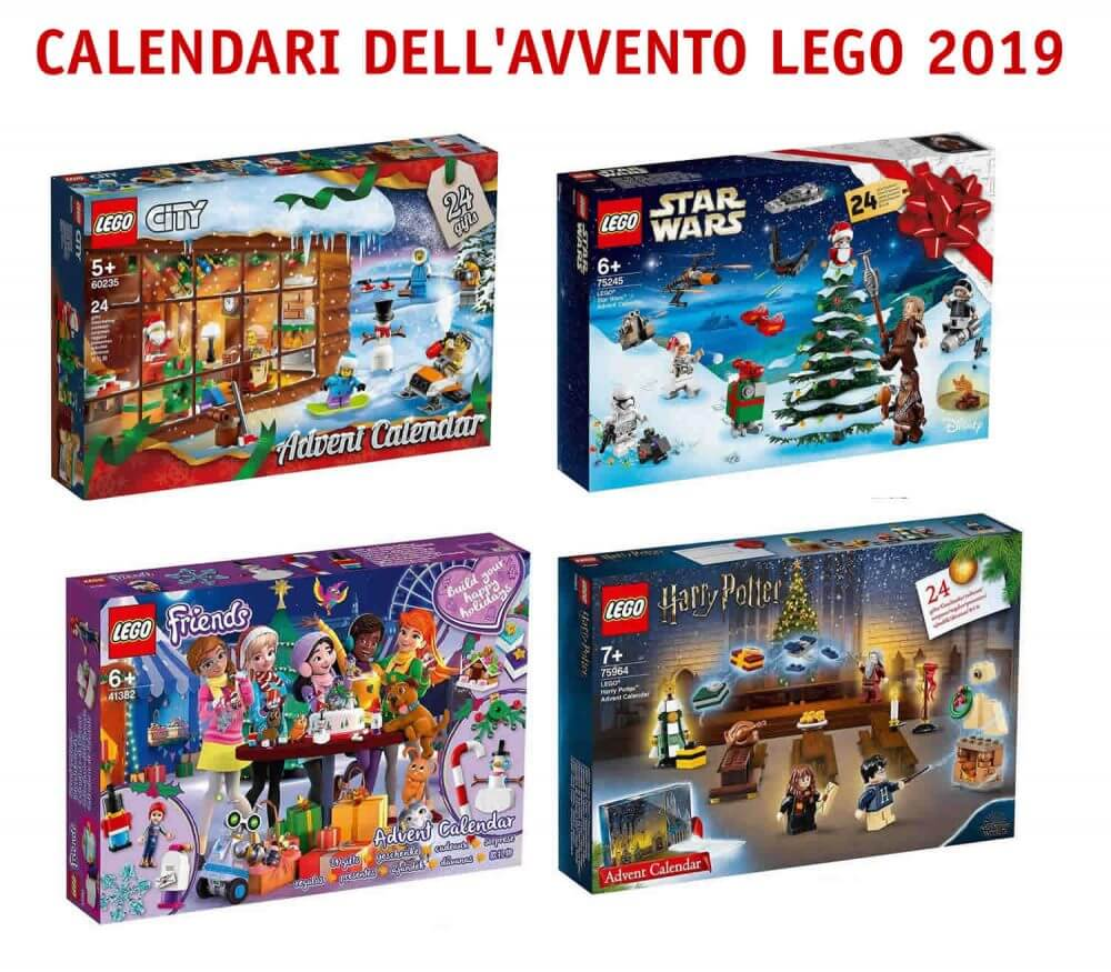 Calendari dell'avvento Lego 2019